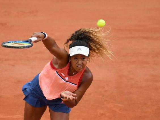 Naomi Osaka is in French Open action on day three (AFP/Getty)