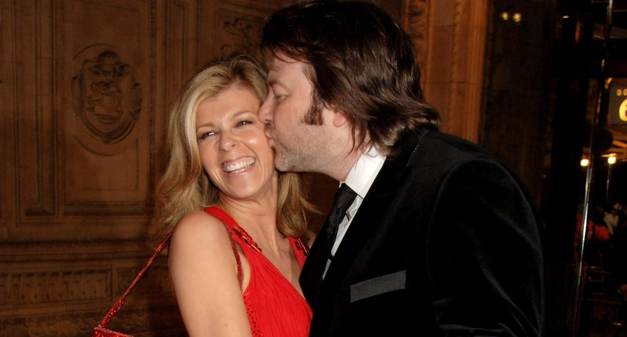 Kate Garraway and her husband Derek Draper arrive at the National Television Awards 2007, at the Royal Albert Hall on October 31, 2007 in London, England.  (Photo by Dave M. Benett/Getty Images)