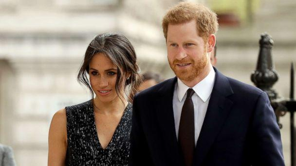 PHOTO: Prince Harry and his fiancee Meghan Markle arrive to attend a memorial service to commemorate the 25th anniversary of the murder of black teenager Stephen Lawrence at St Martin-in-the-Fields church in London, April 23, 2018. (Matt Dunham/AP, FILE)