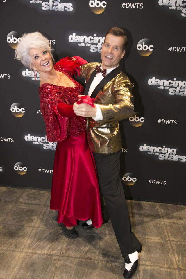 Paula Deen with pro partner Louis Van Amstel on <em>Dancing With the Stars</em> in September 2015. (Photo: Adam Taylor/ABC via Getty Images)