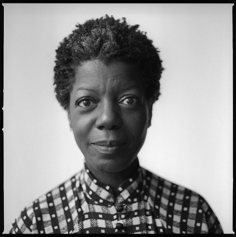 Thelma Golden (director and chief curator, Studio Museum in Harlem) photographed by Brigitte Lacombe. Featured in <em>Forward: Twenty Years of TimesTalks</em>, a new book of Lacombe's black-and-white portraits for the <em>New York Times</em>, 2017-2019.