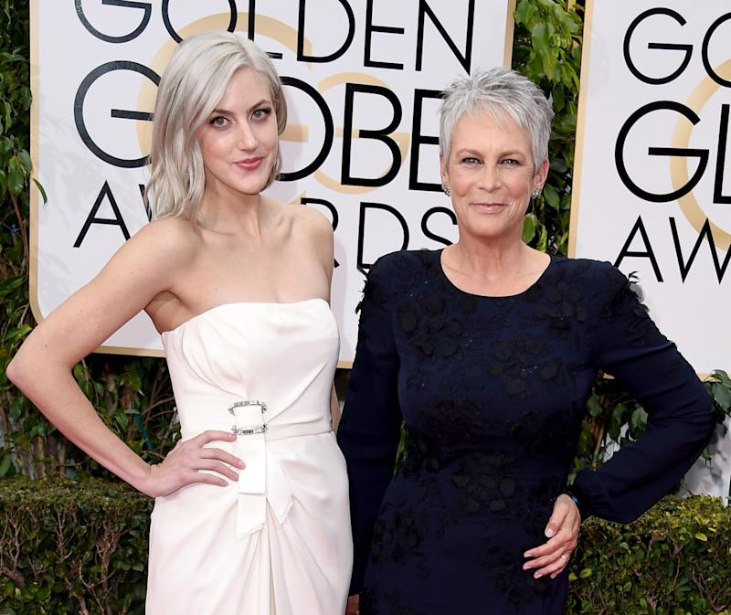 Jamie Lee Curtis And Daughter Annie Guest Sport Matching Hair