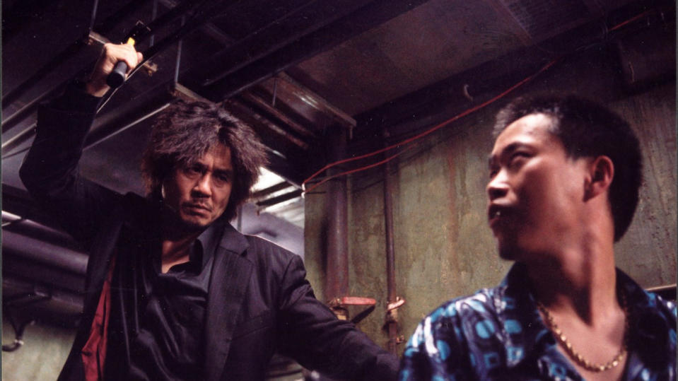 The protagonist of 'Oldboy' runs wild with a hammer in an unbroken take. (Credit: Show East)