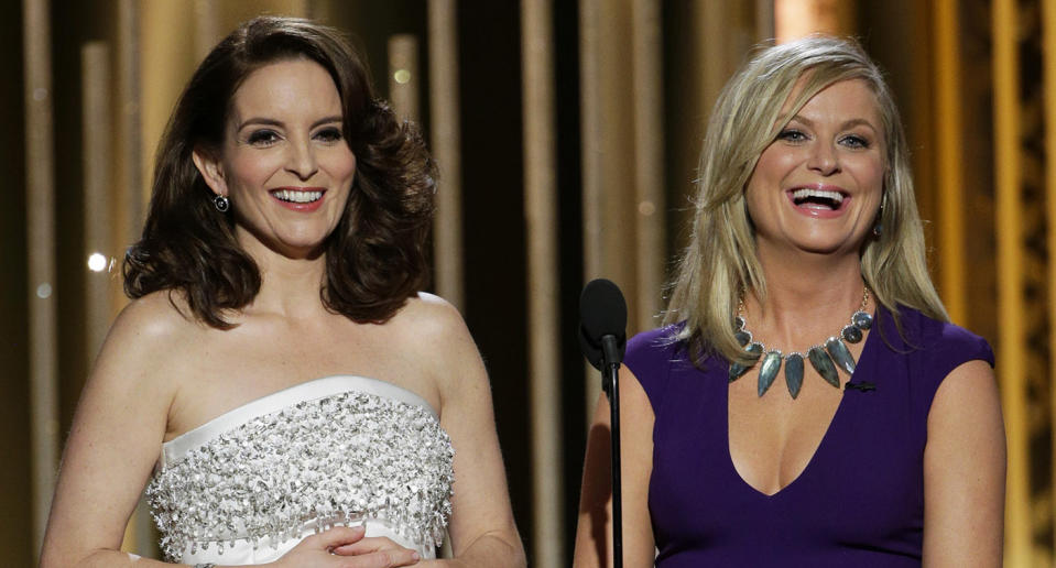 Tina Fey and Amy Poehler will be hosting the 78th Golden Globe Awards.  (Photo by Paul Drinkwater/NBCUniversal via Getty Images)