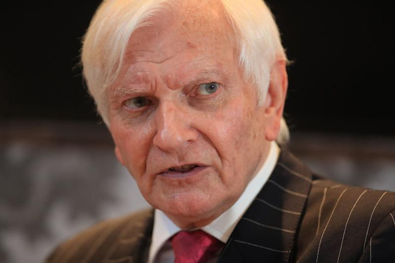 Former Conservative MP Harvey Proctor during a press conference at the Malmaison hotel in Newcastle: PA