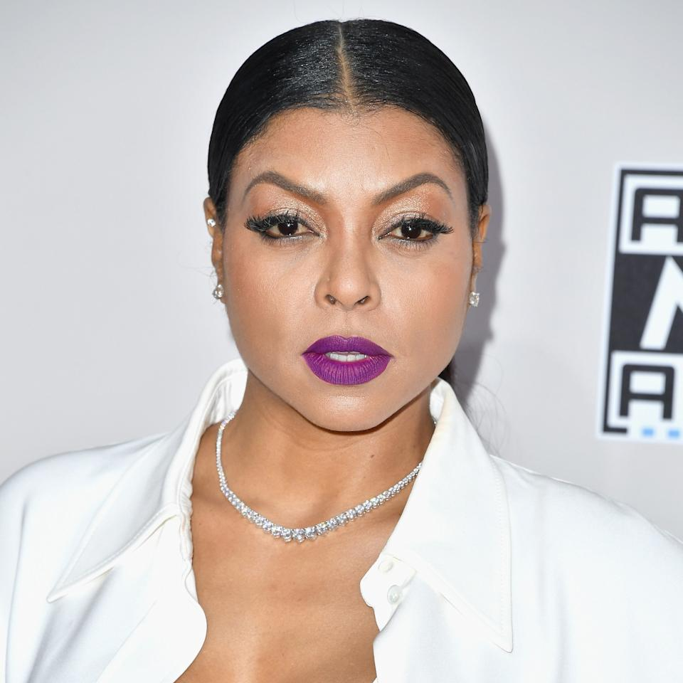 <p>It's common knowledge that Cookie Lyon knows how to work a bold lip, but the actress brought the character to her real life with bright violet lipstick.</p>