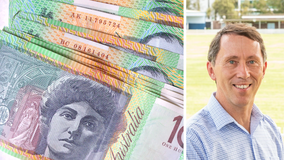 Pictured: Australian $100 notes, Victor Roy. Images: Getty, Supplied