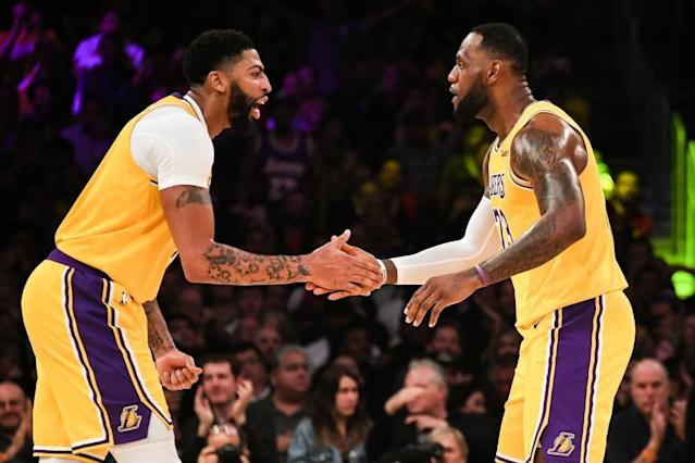 "<span class=""element-image__caption"">The Lakers' Anthony Davis (3) and LeBron James (23) both made the cut.</span> <span class=""element-image__credit"">Photograph: Richard Mackson/USA Today Sports</span>"