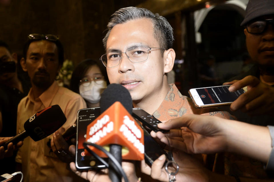 PKR communications chief Fahmi Fadzil denied today allegations that his party helped with defections meant to oust Warisan from helming the Sabah government. — Picture by Miera Zulyana