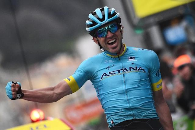 Spain's Jon Izagirre, pictured in March, has won the Basque overall title in Eibar (AFP Photo/Anne-Christine POUJOULAT)