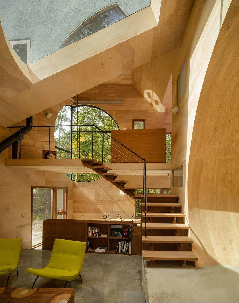 """<p>Dubbed the Ex of In House, this Hudson Valley property was built by the New York– and Beijing-based architect Steven Holl, who envisioned this as an ultra-eco-friendly template for contemporary living. Solar-powered and geothermally heated, the house is made entirely of natural materials and has no walls in the completely open, two-story interior, which sleeps three people on organic Japanese futons. Proceeds from guests' stays go towards Holl's architecture and sculpture nonprofit, Space T2.</p><p><a class=""""link rapid-noclick-resp"""" href=""""https://www.airbnb.com/rooms/21409981"""" rel=""""nofollow noopener"""" target=""""_blank"""" data-ylk=""""slk:Book Now"""">Book Now</a></p>"""