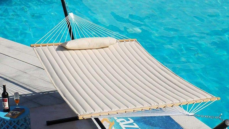This hammock is extra comfy thanks to its added padding.