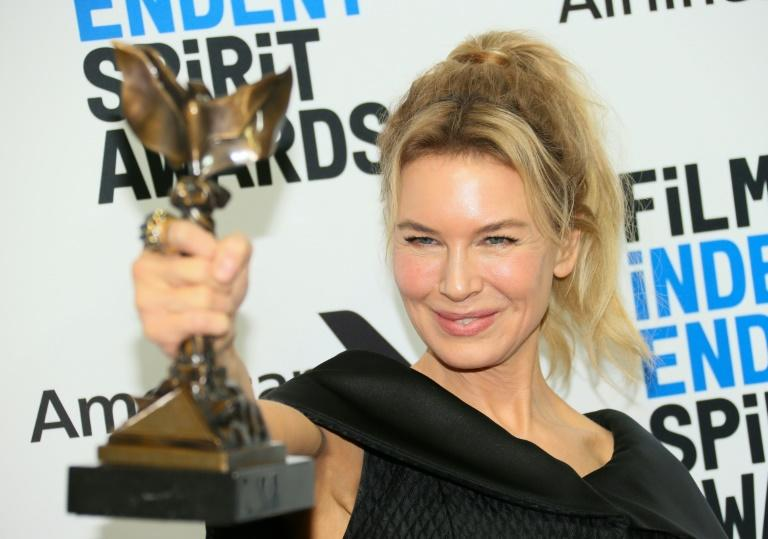"Renee Zellweger won best female lead for her portrayal of Judy Garland in ""Judy"""