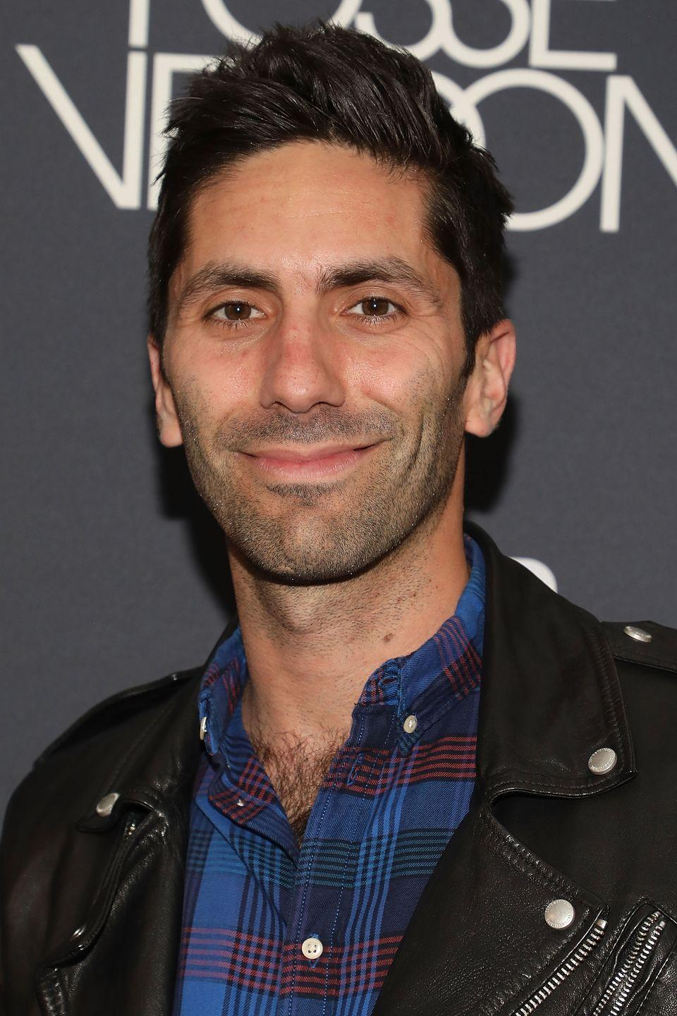 <p>MTV's Nev Schulman keeps it professional for most appearances, but it's nearly impossible for him to hide his impressive chest hair. </p>