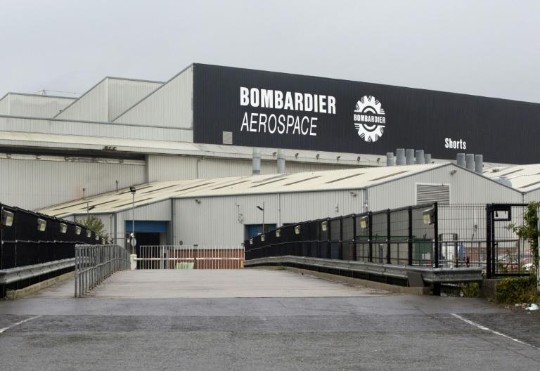 The Bombardier headquarters and factory are pictured in Belfast on September 27, 2017