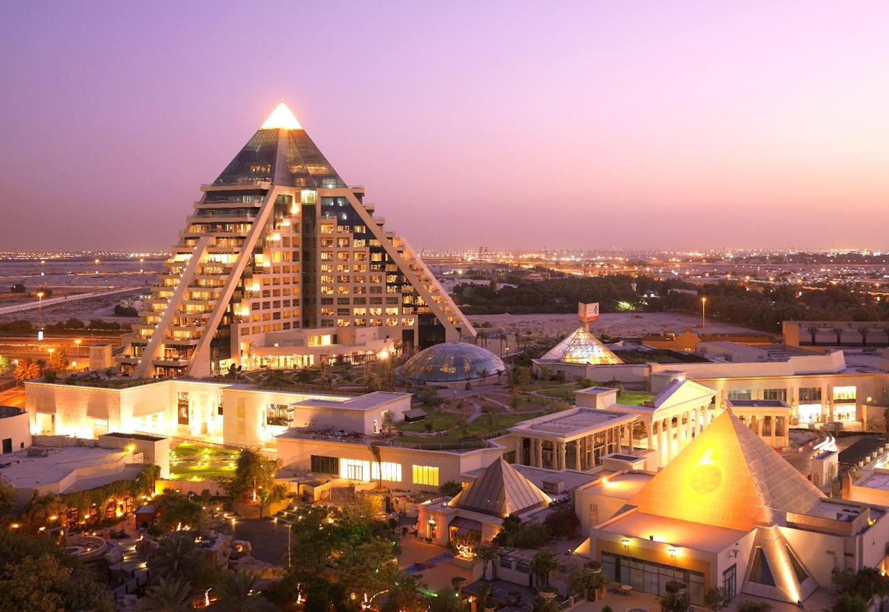 Though some 1,500 miles away from Egypt, Raffles Dubai takes its inspiration from the Great Pyramids, with its 19 storeys coming together in a fashion the pharaohs would have been proud of. The structure's peak is sparkling gold and backlit during the night, presenting perfect photo opportunities at any time.