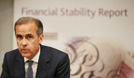 Bank of England Governor, Mark Carney, speaks during the Bank of England's financial stability report at the Bank of England in the City of London