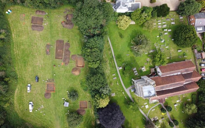 The missing monastery has been unearthed on the site of a parish church in the village of Cookham, Berkshire