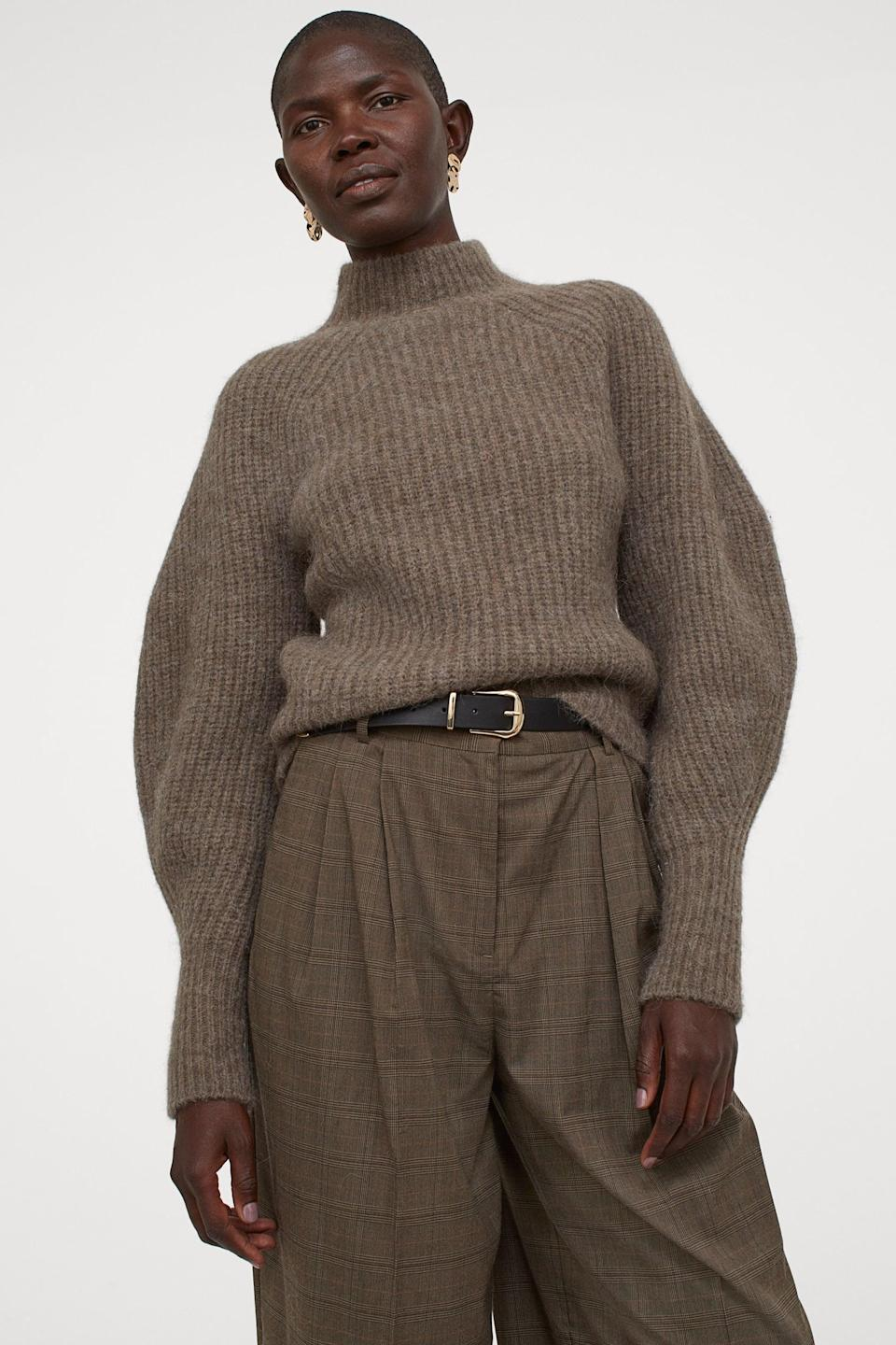 <p>Keep your sweater game strong with this <span>Rib-Knit Wool-Blend Sweater</span> ($60).</p>