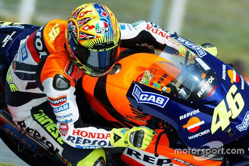 """Valentino Rossi, Repsol Honda Team, 2002<span class=""""copyright"""">Gold and Goose / Motorsport Images</span>"""