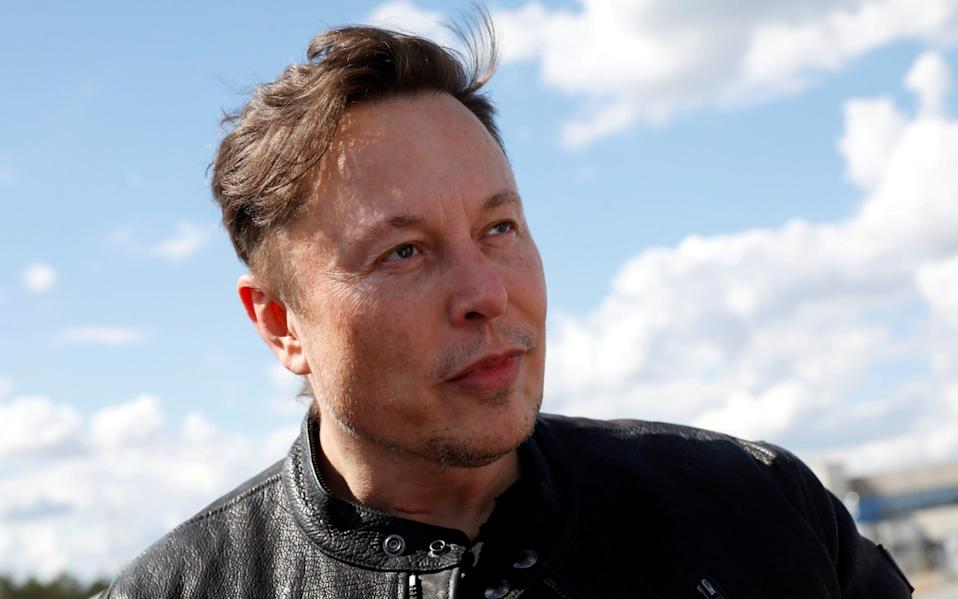 SpaceX founder and Tesla CEO Elon Musk looks on as he visits the construction site of Tesla's gigafactory in Gruenheide, near Berlin, Germany - Reuters/MICHELE TANTUSSI