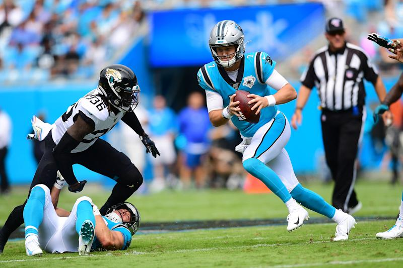 Kyle Allen has done his job during the Panthers' four-game winning streak. (Getty Images)