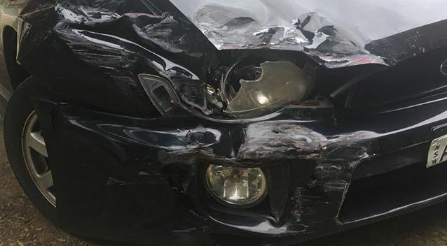 Damage to Ms Kinnane's car following the accident. Source: Facebook/ Sophie Kinnane