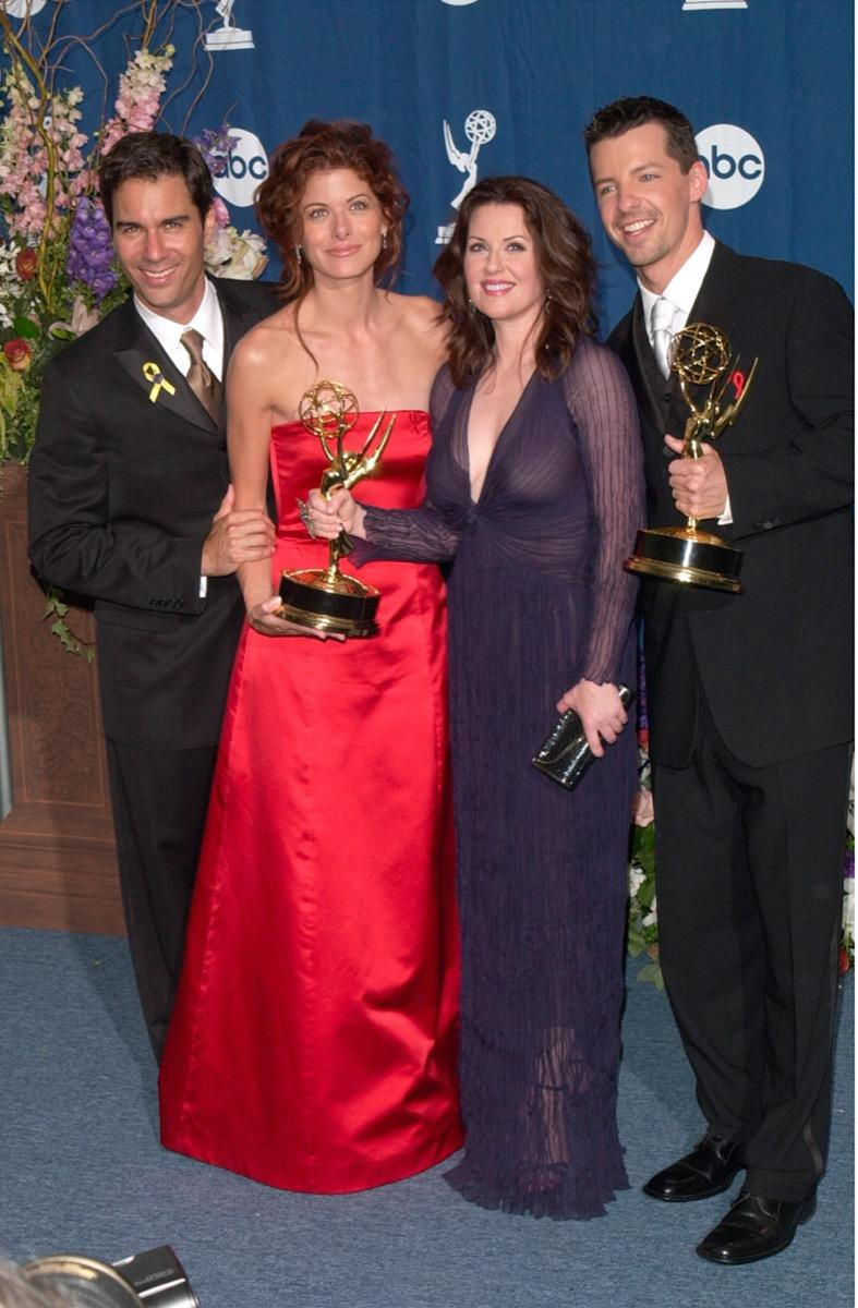 Eric McCormack, Debra Messing, Megan Mullally, and Sean Hayes