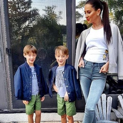 Jessica Mulroney with her sons Brian and John