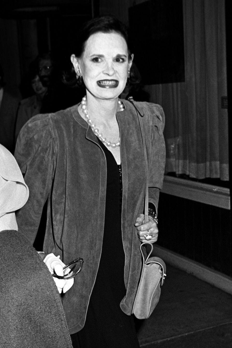 <p>Vanderbilt at Swifty Lazar's party for Billy Wilder at Mortimer's restaurant in New York City.</p>