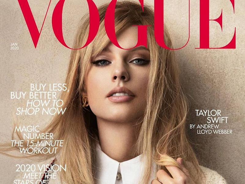 Taylor Swift wore vintage Chanel on British Vogue cover to 'highlight sustainability'