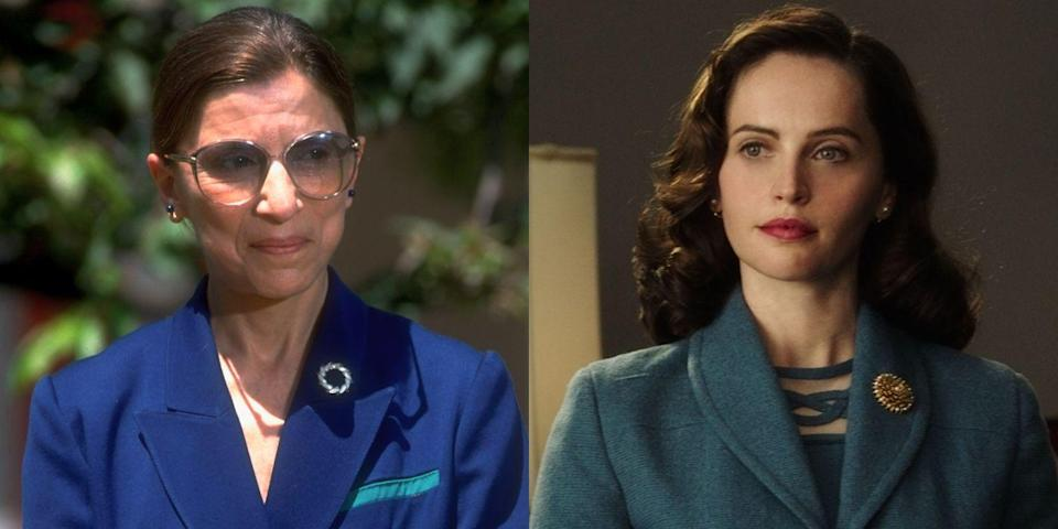 <p><em>On the Basis of Sex</em> tells the story of how future Supreme Court Justice Ruth Bader Ginsburg (a.k.a. Notorious RBG) set a precedent that could be cited in future cases challenging laws that discriminate against women. The biopic starred British actress Felicity Jones.</p>