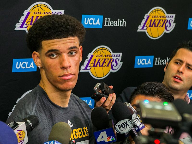 Lonzo Ball takes questions after workout for Los Angeles Lakers