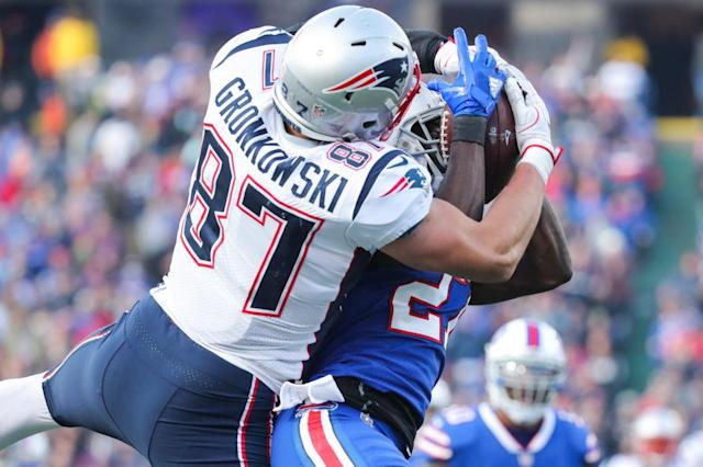 Rob Gronkowski's hit: Not a good look. (Getty)