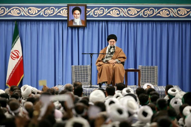 Iran's Supreme leader Ayatollah Ali Khamenei has said the country voiled 'a very dangerous plot' after the violent demonstrations (AFP Photo/-)
