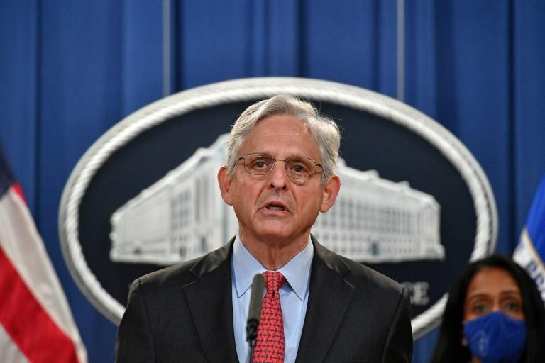 US Attorney General Merrick Garland announces that the Justice Department is filing a lawsuit against Texas over its restrictive abortion law (AFP/Mandel NGAN)