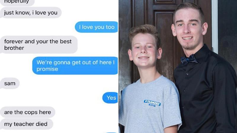 Teen Brothers Exchange Heartbreaking Text Messages During Florida High School Shooting: 'Are the Cops Here?'