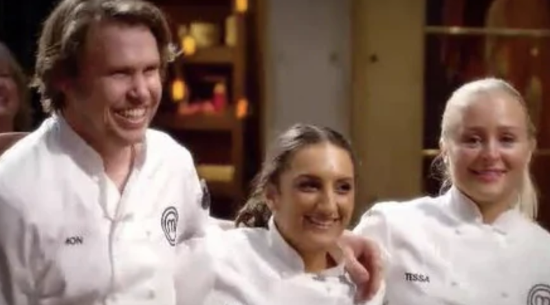 Larissa beat off fellow finalists Simon and Tessa to take home the crown. Photo: Network 10