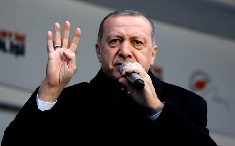 Mr Erdogan sees himself as a global champion for Muslims everywhere. - REUTERS