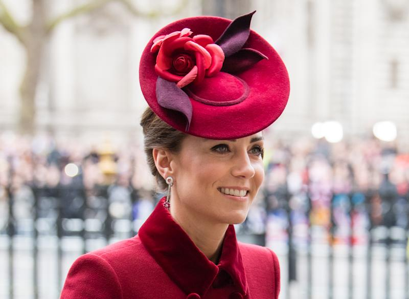 LONDON, ENGLAND - MARCH 09: Catherine, Duchess of Cambridge attends the Commonwealth Day Service 2020 on March 09, 2020 in London, England. (Photo by Samir Hussein/WireImage)