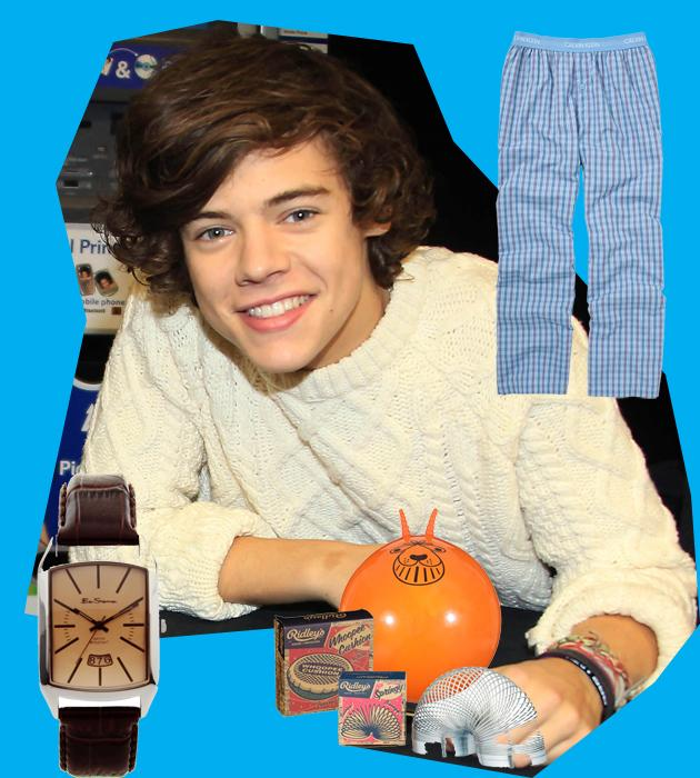 Inspired by One Direction's Harry Styles, here's our pick of the best Christmas presents for the boy next door.