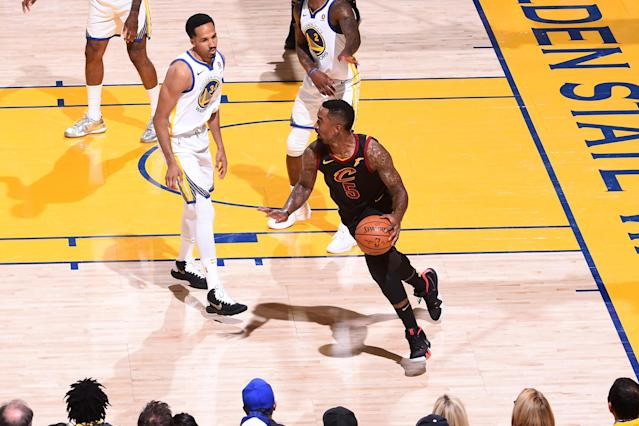 J.R. Smith's costly mistake cost the Cavs in a big way in Game 1 of the NBA Finals. (Photo by Noah Graham/NBAE via Getty Images)