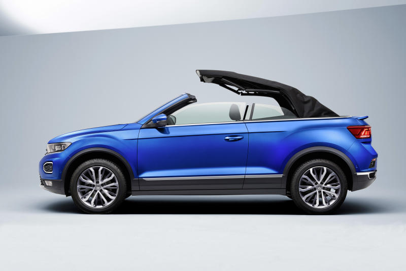 The Cabriolet's roof can be raised or lowered in just nine seconds