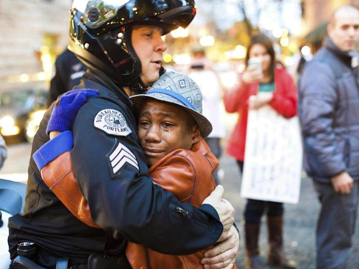 <p>The family shot to fame after photo of Devonte Hart went viral in 2014 — just over three years later tragedy struck</p> (Johnny Huu Nguyen via AP, File)