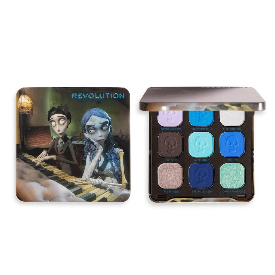 <p><span>Corpse Bride X Revolution The Newlyweds Shadow Palette</span> ($12)</p>
