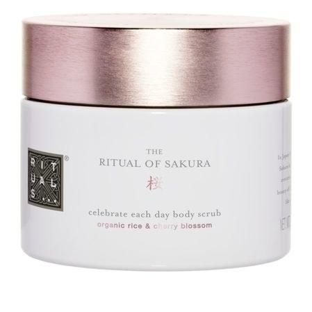 """<p>Organic sugar and oils, plus hydrating rice milk, melt into the skin for a scrub that'll leave her skin smooth but never stripped or dry.</p><p><em><a rel=""""nofollow"""" href=""""http://rstyle.me/~8ax04?mbid=synd_yahoobeauty"""">Rituals The Ritual of Sakura Body Scrub, $29</a></em></p>"""