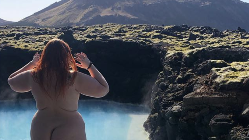 Honey Ross nude lagoon photo Instagram ban