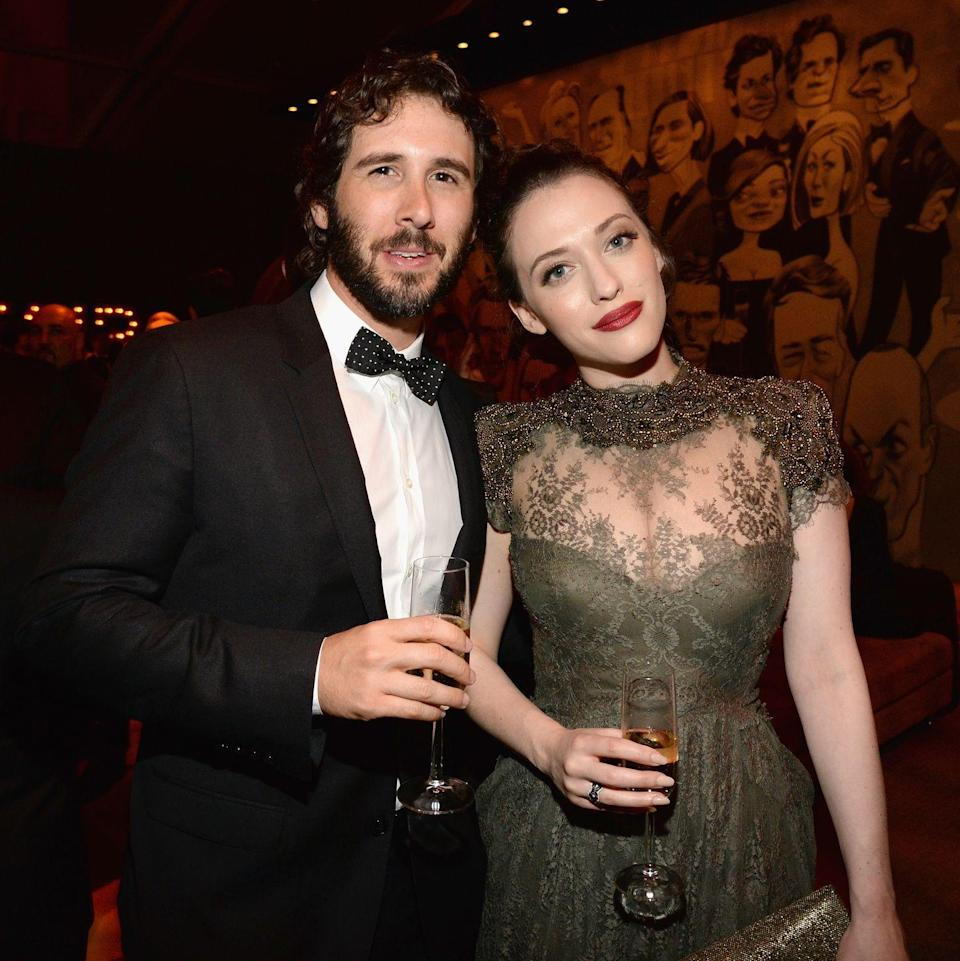 "<p>The couple were set up by Dennings' <em>Two Broke Girls</em> costar Beth Behrs, who had been friends with Groban for years.</p><p>""I always wanted to find him the right girl. At the time, Kat was in a relationship, so I couldn't. Then they happened to both be single for once at the same time,"" <a href=""http://www.people.com/article/josh-groban-kat-dennings-introduced-beth-behrs-2-broke-girls-costar"" rel=""nofollow noopener"" target=""_blank"" data-ylk=""slk:Behrs told People"" class=""link rapid-noclick-resp"">Behrs told <em>People</em></a>. Timing really is everything. Unfortunately, things fell apart, and they called it quits in July 2016.<br></p>"