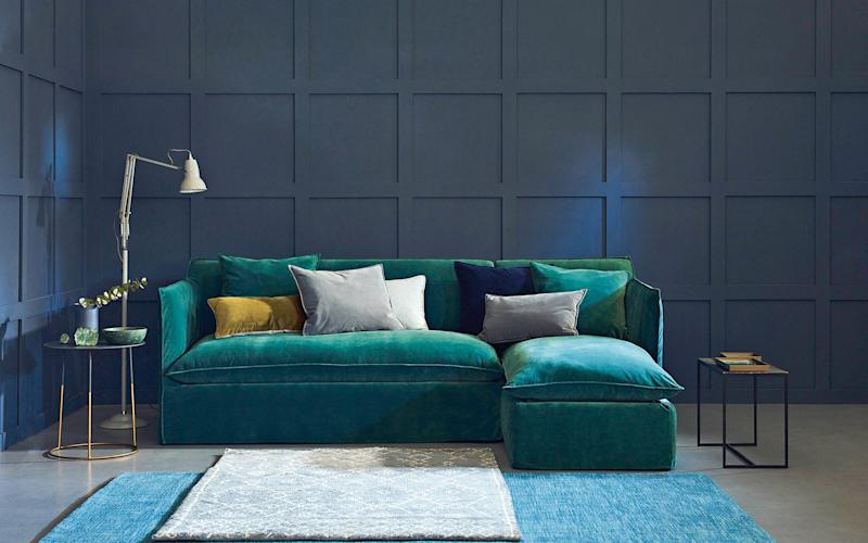 Sophie chaise corner sofa bed, from £2,221, Love Your Home. A luxurious and practical design, with storage for bed linen in the chaise section -
