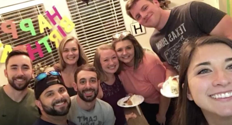 Some members of the Barbosa family are pictured celebrating a 30th birthday.